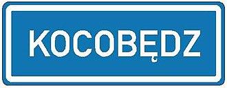 Town sign - Image: CZ IS12c Obec v jazyce národnostní menšiny 2007