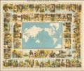 Ca. 1870 pictorial world map -Le Tour du Monde en 80 jours par Jules Verne.png