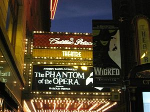 Cadillac Palace Theatre - The theater also showed The Phantom of the Opera in the 2007-2008 season.