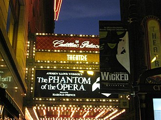 Cadillac Palace Theatre - The theater presented The Phantom of the Opera in the 2007-2008 season.