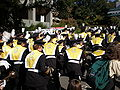 Cal Band en route to Memorial Stadium for 2008 Big Game 12.JPG