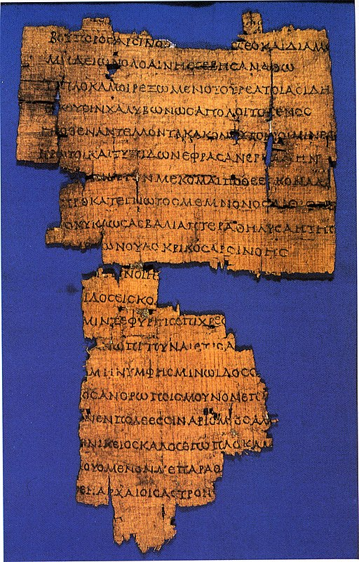 Callimachus, Coma Berenices, papyrus