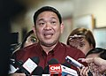 Camarines Sur Rep. Rolando Andaya gives a statement to the media.jpg