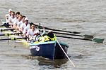 Cambridge VIII at Stakeboat - 2009 Boat Race.jpg