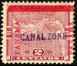 Postage stamps and postal history of the Canal Zone - 2-cent, Issue of 1904