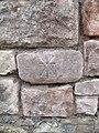 Cancelled benchmark at rear of Balaclava Road, Caernarfon - geograph.org.uk - 2070193.jpg