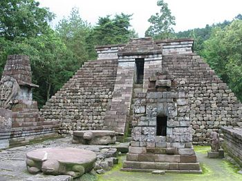 Sukuh temple is a Hindu temple located at the foot of Mount Lawu. Its hight altitude causes the mist (cloud) to cover it at certain times of the day.