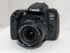 Canon EOS 9000D front-left 2017 CP+.jpg