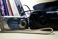 Canon PowerShot A430 and Canon Sure Shot.jpg