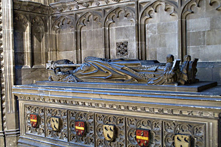 Warham's tomb in Canterbury Cathedral Canterburycathedralwilliamwarhamtomb.jpg