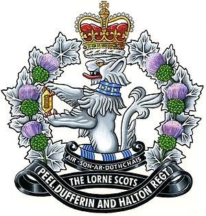 The Lorne Scots (Peel, Dufferin and Halton Regiment) - The cap badge of The Lorne Scots (Peel, Dufferin and Halton Regiment).