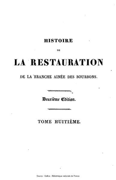 File:Capefigue - Histoire de la Restauration, tome 8.djvu
