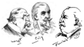 Caricatures of Whitaker Wright, Bill Cody, Grover Cleveland by Harry Furniss.png