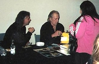 David Carradine - Carradine signing autographs in Malmö in 2005.