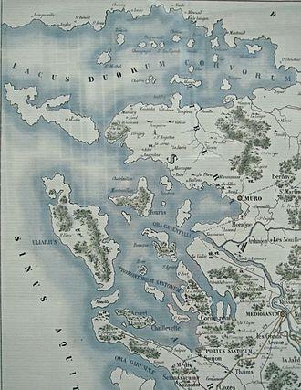 La Rochelle - Coastline around La Rochelle in Roman times.