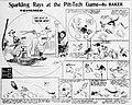 Cartoon depiction of the 1917 Pitt versus Carnegie Tech football game by Baker.jpg
