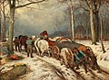Casimir Geibel - Woodworkers in a Winter Woodland.jpg