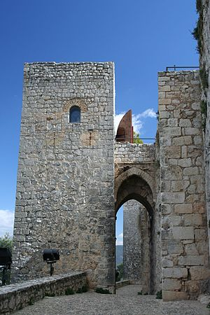 Albarrana tower - One of the 2 albarrana towers in the castle of Santa Catalina in Jaén
