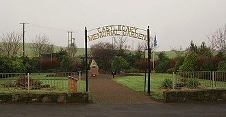 Castlecary - Castlecary Memorial Garden - built to commemorate two local children who died when, in 1958, a mineshaft suddenly opened up in their swing park.