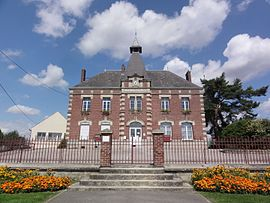 The town hall and school of Caumont