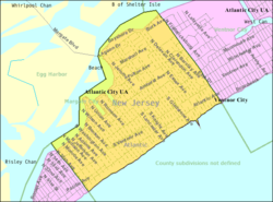Census Bureau map of Margate City, New Jersey