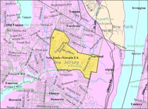 Norwood, New Jersey - Image: Census Bureau map of Norwood, New Jersey