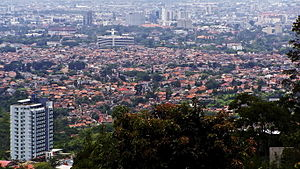 Bandung Metropolitan Area - View of Central Bandung from the north