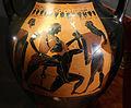 Ceramica attica a figure nere, anfora con teseo e il minotauro, 540-520 ac ca. 02.JPG
