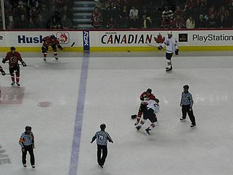 Battle of Alberta - Image: Cgy Edm fight