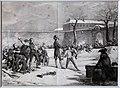 Charles-etienne motte da horace vernet, l'infanzia di anpoleone (battaglia delle palle di neve), litografia, 1822.jpg