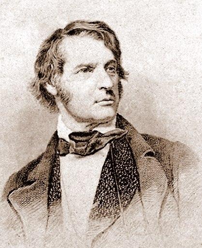 Charles Sumner steel engraving c1860