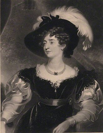 Charlotte Percy, Duchess of Northumberland - The Duchess in 1845 by William Oakley Burgess