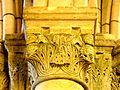 Chars (95), église Saint-Sulpice, bas-côté sud, chapiteaux du 2e pilier de la nef 5.JPG