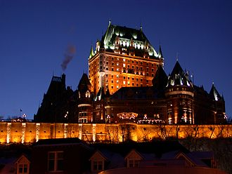 Château Frontenac - Château Frontenac at nighttime