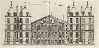 Philibert de l'Orme - Garden facade of the Chateau de Saint-Maur (1541, demolished 1796)