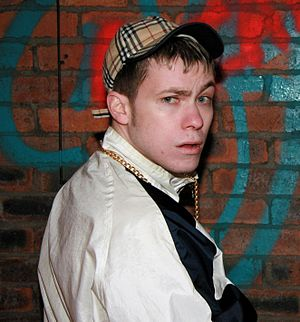 "Chav - Comedian Neil Bratchpiece as ""The Wee Man"", a stereotypical chav character"