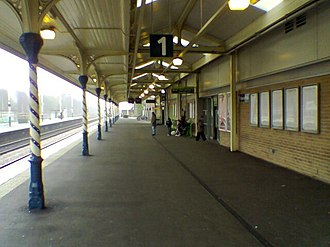 Chesterfield railway station - Platform 1 Facing South