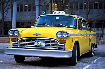 English: A checker taxi cab. Deutsch: Ein Chec...
