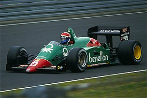 Eddie Cheever - Cheever driving for Alfa Romeo at the 1985 German Grand Prix.