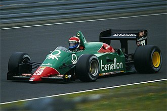 Alfa Romeo in Formula One - The Benetton sponsored Alfa Romeo 185T in 1985.