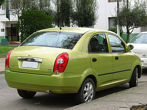Chery QQ6 - Rear view of an S21 (Chile)