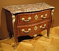 Chest of Drawers (commode), about 1725, attributed to Etienne Doirat, Paris, kingwood with gilt metal and marble - Cleveland Museum of Art - DSC09008.JPG