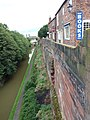 Chester City Walls and Shropshire Union Canal adjacent to Rufus Court 01.jpg