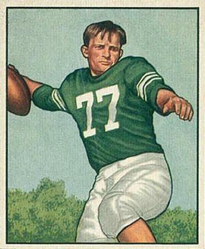 Chet Mutryn - Mutryn on a 1950 Bowman football card