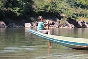 Young rower in Laos