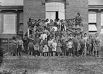 Tifton, Georgia - Child workers at Tifton Cotton Mills, 1909. Photographed by Lewis Hine.