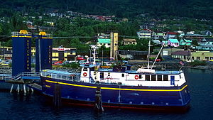 MV Chilkat - Image: Chilkat in Ketchican, Alaska. Taken 2 August 1985