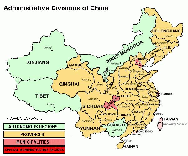 China provinces