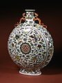 """Chinese - Pilgrim Bottle with the Character """"Shou"""" (Long Life) - Walters 491685 - Profile.jpg"""