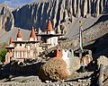Chortens of Tangye, Mustang, Nepal on 10 May 2016, from- ACAP Upper Mustang Tangyejpg (cropped).jpg